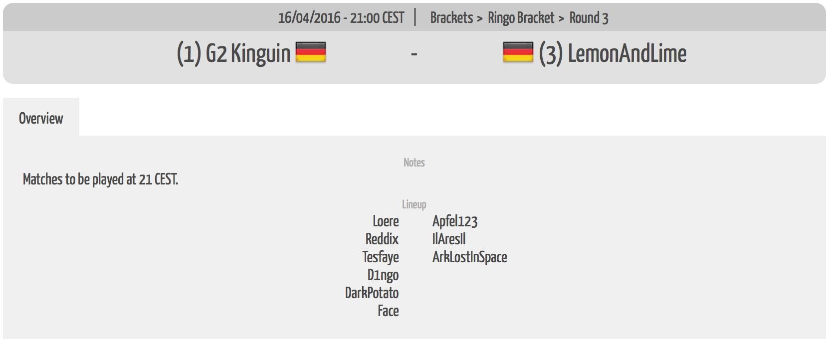 2016-04-16 Kinguin vs. LemonAndLime