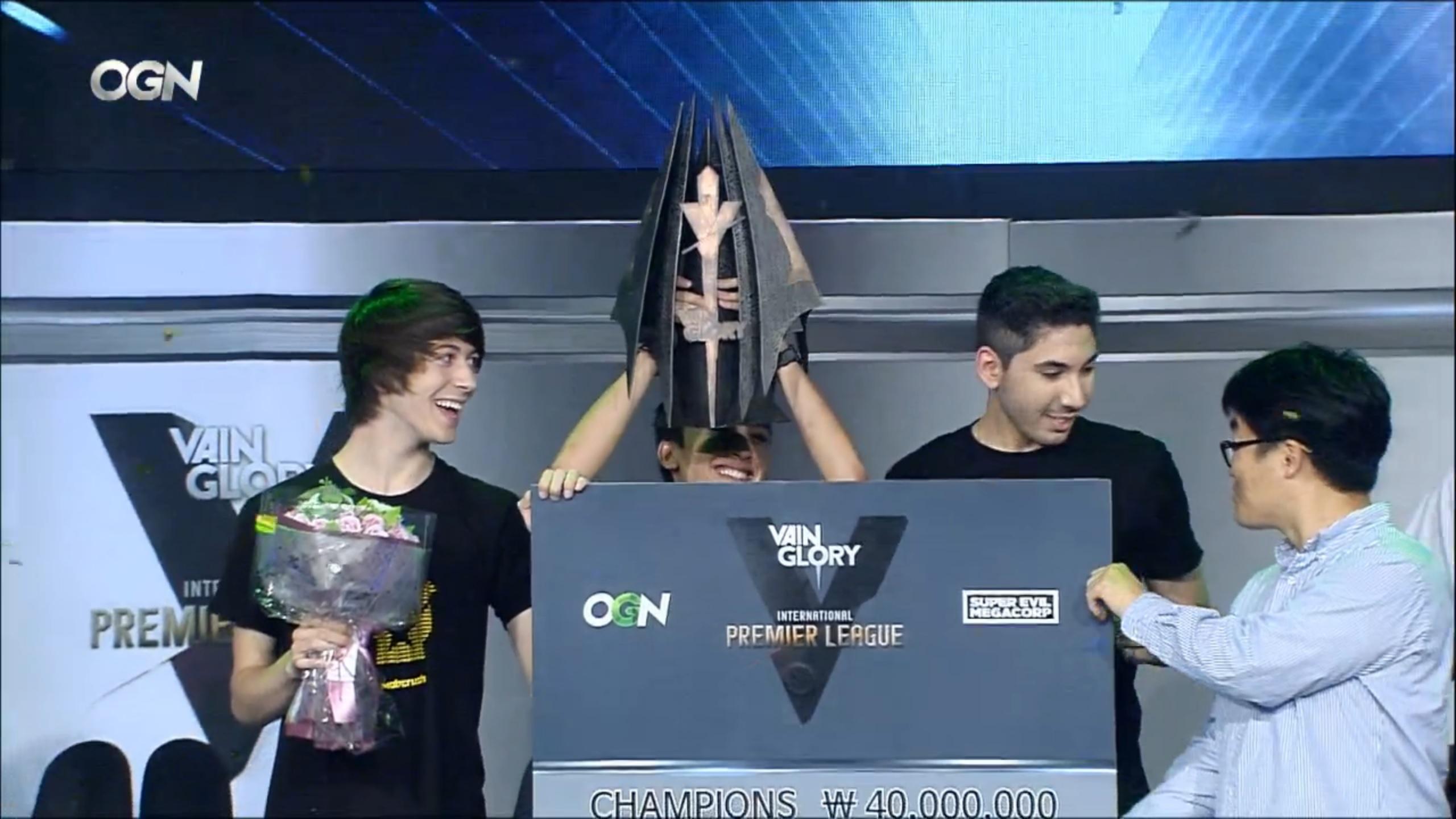 GankStars final win trophy